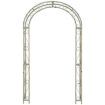Outdoor Living Antique White Arch Traditional Iron: Home & Kitchen