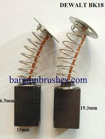 2 CARBON BRUSHES FOR DEWALT 145323-02 BLCAK DECKER