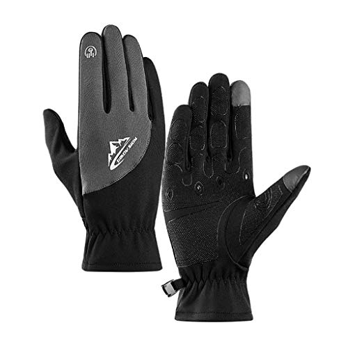 Sikye Winter Sports Gloves,Composite Fabric Keep Warm Breathable Snow Ski Touch Screen Gloves Texting Mittens,Waterproof Windproof (XL, Gray)