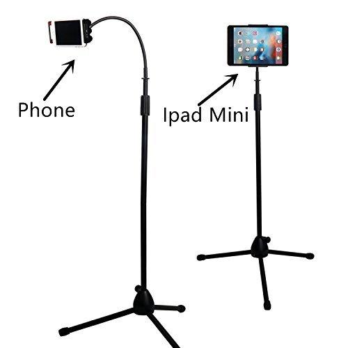 Kufox Foldable Telescopic Phone Tripod Floor Stand/Holder/Mount,Floor Selfie stick Holder,For Phone& Ipad Mini