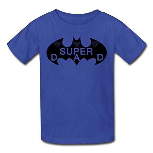 Price comparison product image Batman Super Dad Youth's T Shirt X-Large RoyalBlue