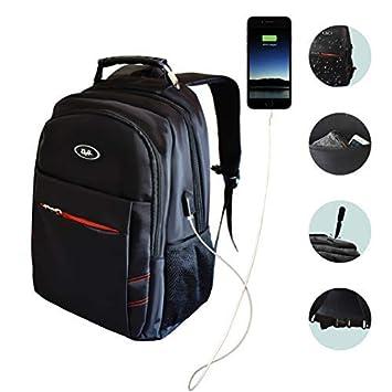 """Mochila para portátiles hasta 15,6"""" para negocio o colegio, esta mochila negra"""
