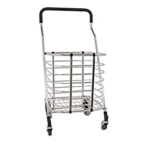 Homz Premium Shopping Tote Cart, Foldable, Lightweight Aluminum Frame
