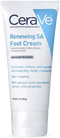 CeraVe Foot Cream with Salicylic Acid | 3 Ounce | Foot Cream for Dry Cracked Feet | Fragrance Free