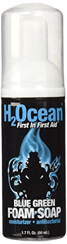 1.7oz H2Ocean Blue Green Foam Soap Tattoo & Piercing Aftercare