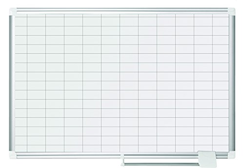 MasterVision Magnetic Gold Ultra Dry Erase 1 x 2 Inch Grid Planner, 2 x 3 Feet, Aluminum Frame (MA0392830)](Grid Dry Erase)
