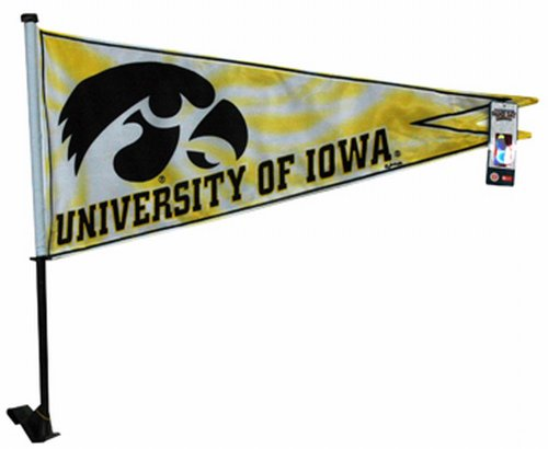 Game Day Outfitters NCAA Iowa Hawkeyes Car Flag Pennant - Iowa Hawkeyes Car Flag