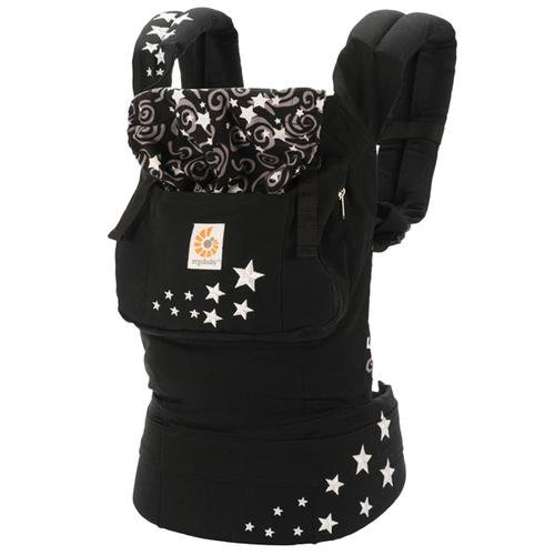 Ergobaby Original Award Winning Ergonomic Multi-Position Baby Carrier with X-Large Storage Pocket, Night Sky by Ergobaby