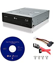 LG WH14NS40 14X Internal Blu-ray M-DISC Burner 3D Playback + Cyberlink 3D Playback Burning Software + Cable Kit