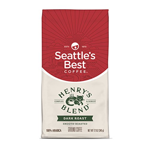 (Seattle's Best Coffee Henry's Blend Dark Roast Ground Coffee, 12-Ounce Bag)