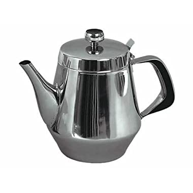 Stainless Steel Gooseneck Tea Pot w/ Vented Hinged Lid, 20 Fluid Ounces (2 - 3 Cups) by Pride Of India