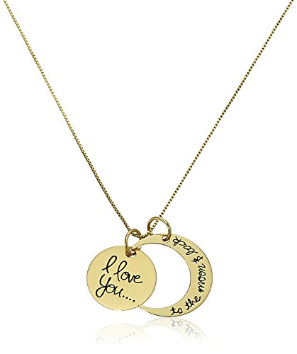 "Sterling Silver""I love you to the moon & Back"" Pendant Necklace, 18 Inch"