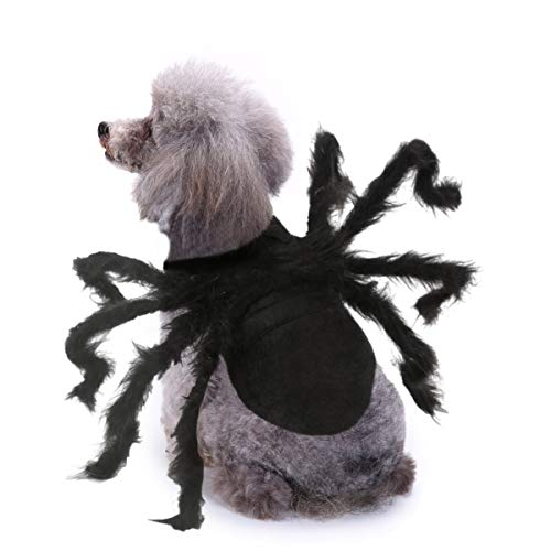 BWOGUE Halloween Pet Costume Spider Cosplay Apparel Dog Cat Spider Costume for Party,Small