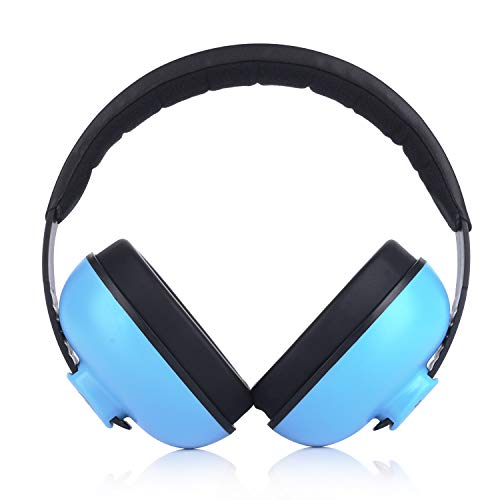 Baby Headphones Safety Ear Muffs Noise Reduction for Newborn Infant Autism Kids Toddlers Sound Cancelling Headphones for Sleeping Studying Airplane Concerts Movie Theater Fireworks, Blue by ILOVEUS (Image #4)