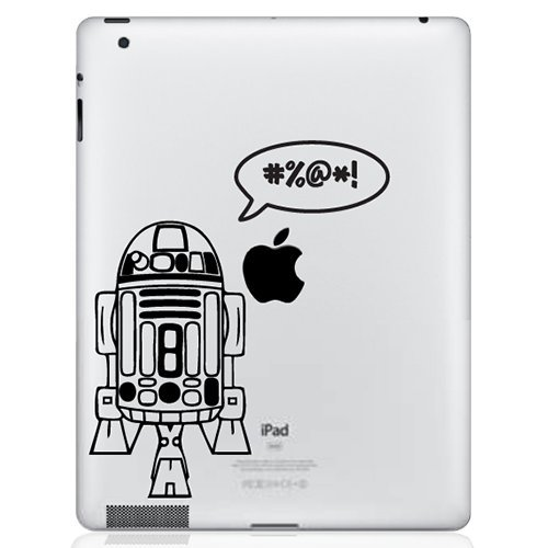 Gadgets Wrap Skin for Apple iPad 1 2 3 4 iPad Pro 9.7 10.5 Back Skin Decal - R2D2