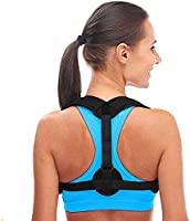 Aroamas Posture Corrector for Women & Men, Relieves Upper Back & Shoulders Pain, Corrects Slouching, Hunching & Bad Posture, Clavicle Support Adjustable Brace