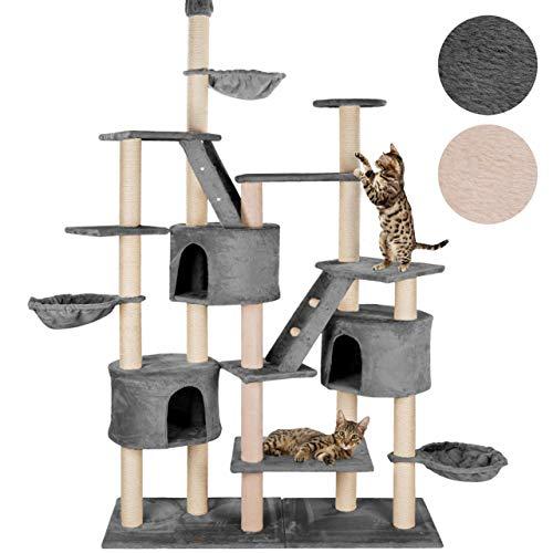 happypet® Kratzbaum für Katzen deckenhoch höhenverstellbar 240 – 260 cm hoch, CAT013, großer Kletterbaum Katzenbaum für…