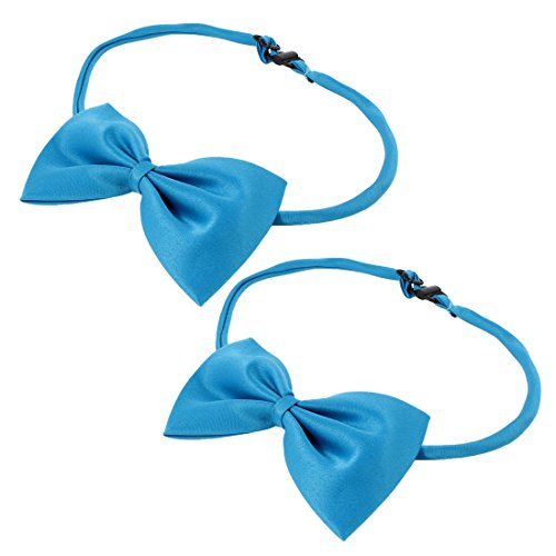 uxcell 2 Pieces Adjustable Dog Doggie Puppy Collar Bowtie Bow Ties Dodger Blue