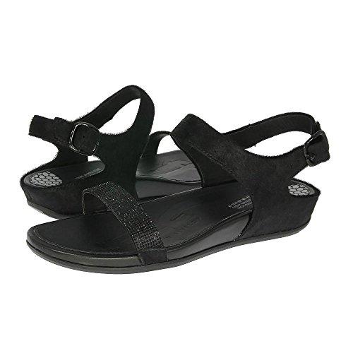 FitFlop Banda Micro-Crystal - Sandalias para mujer (Black) Negro, talla 40