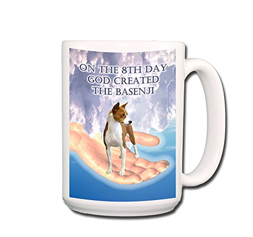 Basenji 8th Day God Created Coffee Tea Mug 15 oz No 1