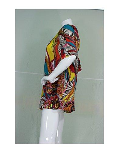 Aller Simplement - Túnica de algodón con mangas 3/4 TU223A multicolor Multicolor