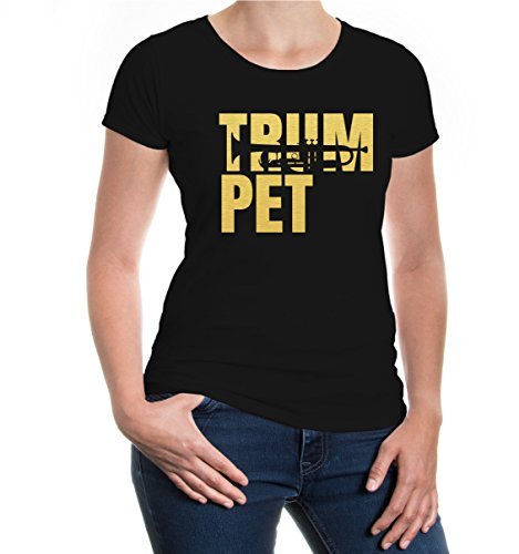 Girlie T-Shirt Trumpet Type Black