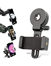 Universal Phone Adapter Mount-Phone Clip Compatible with Binoculars Monocular Spotting Scope Telescope Microscope-Fit Kinds of Smartphone-Capture and Record The Discoveries