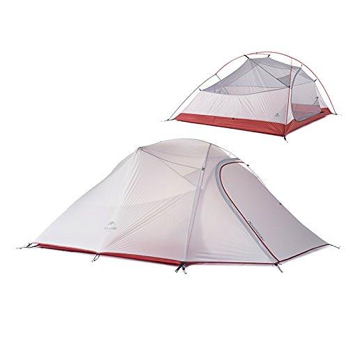 Naturehike Im Freien 3 Person Zelte Ultralight Camping Zelte 20D Silicone Fabric Tent Double Layer Wasserdicht Zelte(gray)