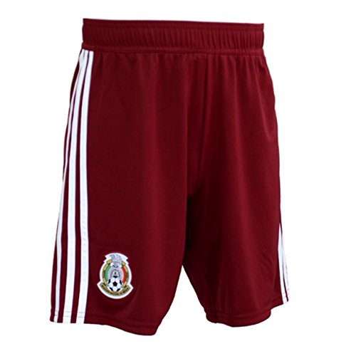 adidas Mexico Men's Away Shorts World Cup 2018 (Maroon) (M)