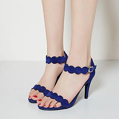LvYuan Tacón Stiletto-Otro-Sandalias-Oficina y Trabajo Vestido Fiesta y Noche-Vellón-Negro Azul Rojo Almendra Blue