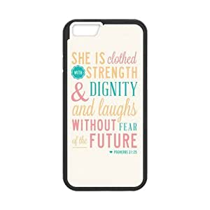 """CASECOCO(TM) Bible Verse Cross PC TPU Case Cover Skin For iphone 6 4.7"""""""