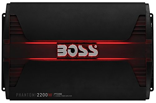 (Boss Audio Systems PT2200 Phantom 2200 Watt, 2 Channel, 2 4 Ohm Stable Class AB, Full Range, Bridgeable, Mosfet Car Amplifier with Remote Subwoofer Control)