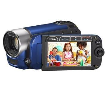CANON LEGRIA FS 306, color azul-videocámara tarjeta SD-HC ...