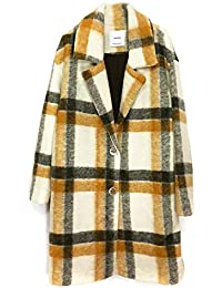 7b98329365 Women Unstructured Virgin Wool Coat 41050883 Yellow · MANGO