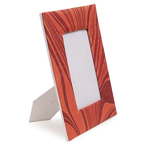 Cratly Handmade Photo frame Made of Recycle paper Size : 5x7 ( LXB ) (Paper Mache Picture Frame)