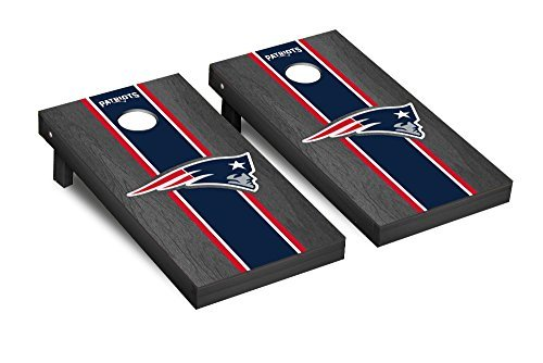 NFL New England Patriots Onyx Stained Stripe Version 2 Football Corn hole Game Set One Size [並行輸入品]