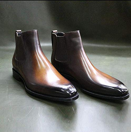 Handmade men burgundy leather boots Chelsea dress boots for men leather boots