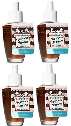 Brownie Peppermint - Bath and Body Works Peppermint Brownie Wallflowers Fragrances Refill. 0.8 Oz. 4 Set.