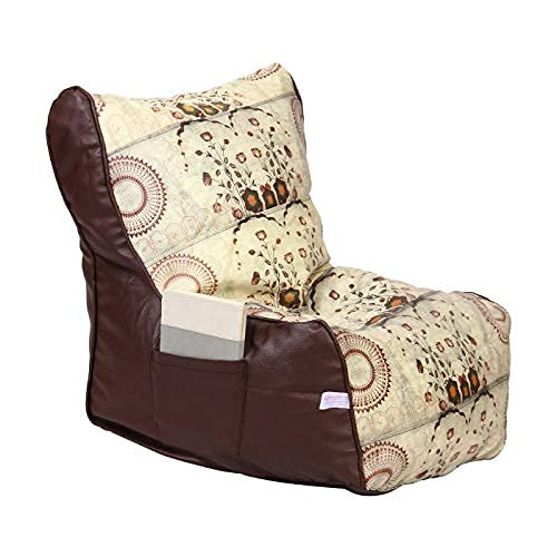 ORKA Premium Digital Printed XL Bean Bag Chair Cover Without Beans   Multicolor