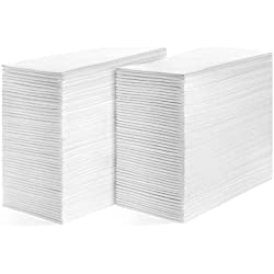 Linen Feel Guest Towels Disposable Cloth Like Paper Hand Napkins Soft, Absorbent, Paper Hand Towels for Kitchen, Bathroom, Parties, Weddings, Dinners or Events (White, 200 P)