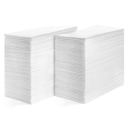 American Homestead Linen Feel Guest Disposable Cloth Like Napkins Soft, Absorbent, Paper Hand Towels for Kitchen, Bathroom, Parties, Weddings, Dinners Or Events White 200 Pack (Guest Paper Monogrammed Towels)