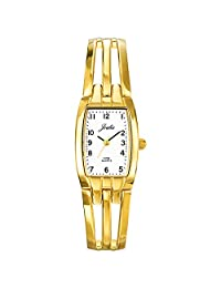 Certus Paris Women's 631473 Tonneau Gold Tone Brass Bracelet White Dial Watch