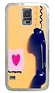 Samsung S5 case slim cover Romantic Love Heart Cool PC Transparent Custom Samsung Galaxy S5 Case Cover