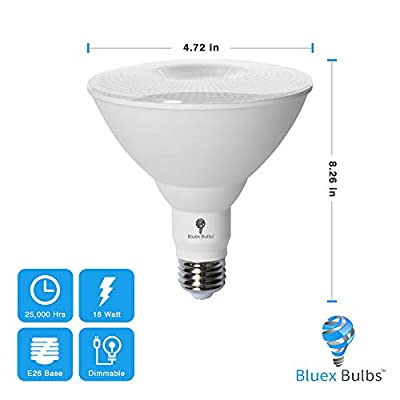 2 Pack BlueX LED Par38 Flood Red Light Bulb - 18W (120Watt Equivalent) - Dimmable - E26 Base Red LED Lights, Party Decoration, Porch, Home Lighting, Holiday Lighting, Red Flood Light