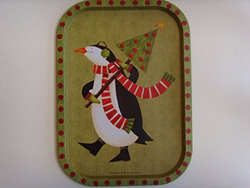 Debbie Mumm Penguin Christmas Tin Tray 15