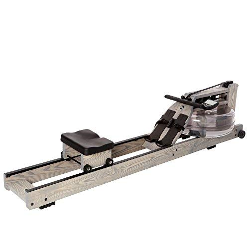 Water Rower Rowing Machine Driftwood with Patented Water Flywheel, S4 Monitor, and Adjustable...
