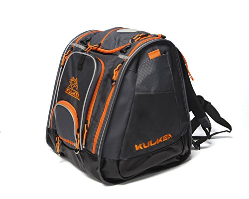 KULKEA Boot Trekker - Ski Boot Backpack, Grey/Black/Orange