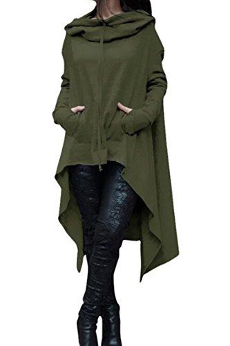 long cowl neck hoodie - 4