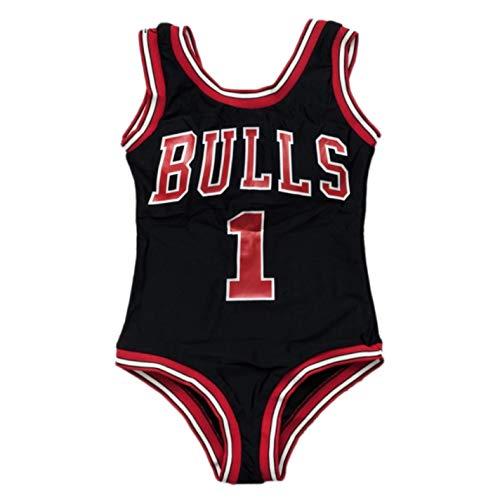 - Dapigu Womens Swimsuit Bodysuits NO.1 Bulls Printed Swimwear Beach Wear Bathing