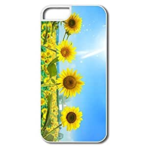 IPhone 5 5S Cases, Sunshine Sunflowers White Case For IPhone 5